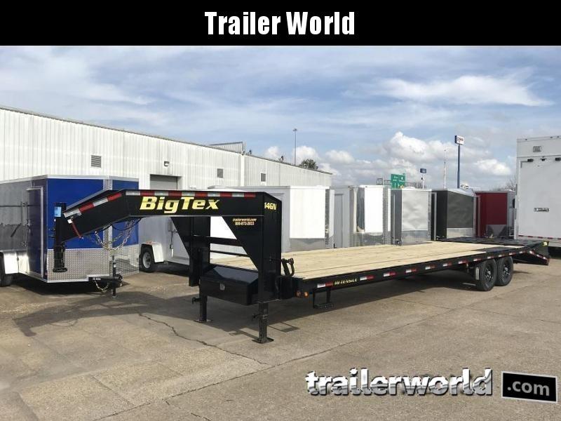2019 big tex trailers 14gn 25\u0027 5\u0027 flatbed equipment trailer mega Big Tex Utility Trailers