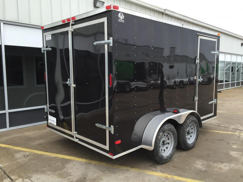 2016 Lark 7u0027 x 12u0027 x 6.5u0027 Vnose Enclosed Cargo Trailer Double Doors & 2016 Lark 7u0027 x 12u0027 x 6.5u0027 Vnose Enclosed Cargo Trailer Double ... pezcame.com