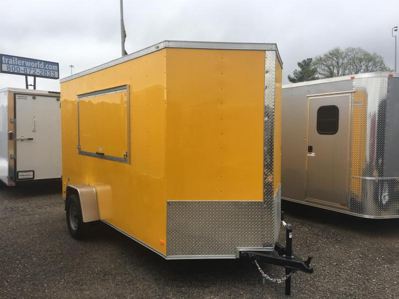 2017 CW 6' x 12' x 7' Vendor Trailer