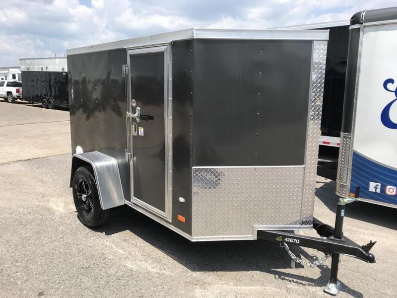 2018 CW 5u0027 x 8u0027 Vnose Enclosed Cargo Trailer R& Door & 2018 CW 5u0027 x 8u0027 Vnose Enclosed Cargo Trailer Ramp Door   Trailer ...