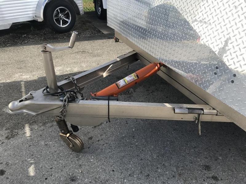 2009 H And H Trailer 18 Steel Deck Tilt Bed Open Car Trailer