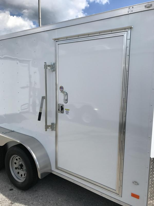 2018 CW 7u0027 x 12u0027 x 6.3u0027 Vnose Enclosed Trailer Double Doors & Enclosed Cargo Trailers | Trailer World of Bowling Green Ky | New ... pezcame.com
