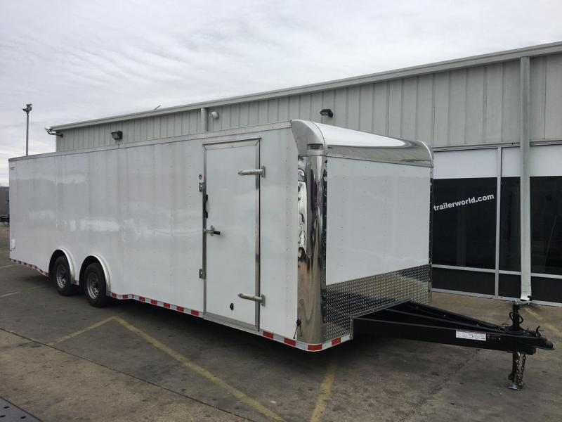 2017 Lark 28' Enclosed Car Trailer Spread Axle 10k GVWR