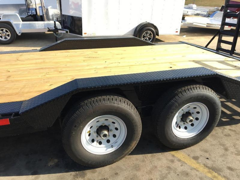 Mechanical Drive Tractor Front Fenders : Big tex df equipment trailer drive over fender