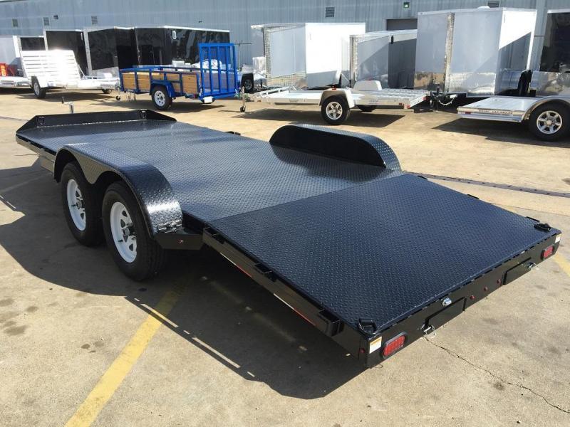 2017 Sure Trac 18 Steel Deck Open Car Hauler Trailer Trailer