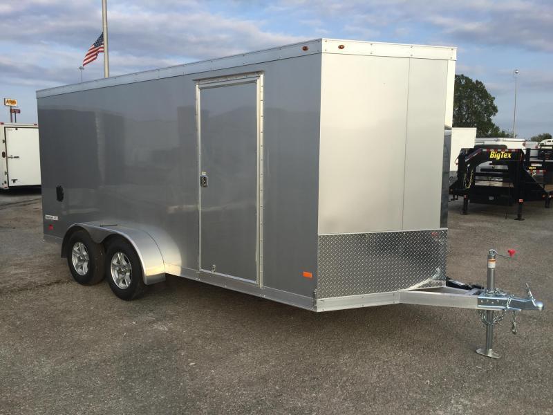 2017 Haulmark 7' x 16' x 6.5'  Enclosed Aluminum Cargo Trailer