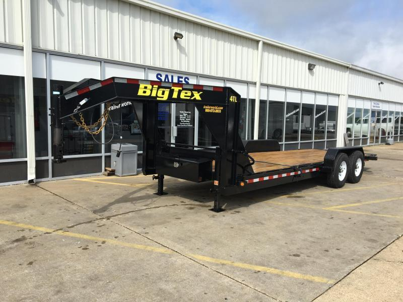 2017 Big Tex 14TL 22' Flatbed Gooseneck 16' Tilt + 6' Equipment Trailer