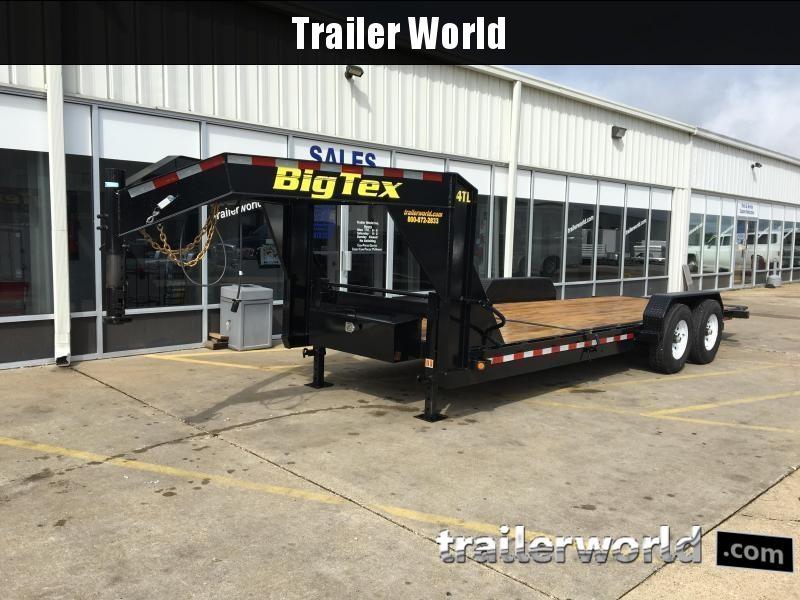 2017 Big Tex 14TL 22' Flatbed Gooseneck 16' Tilt + 6' Equipment Trailer