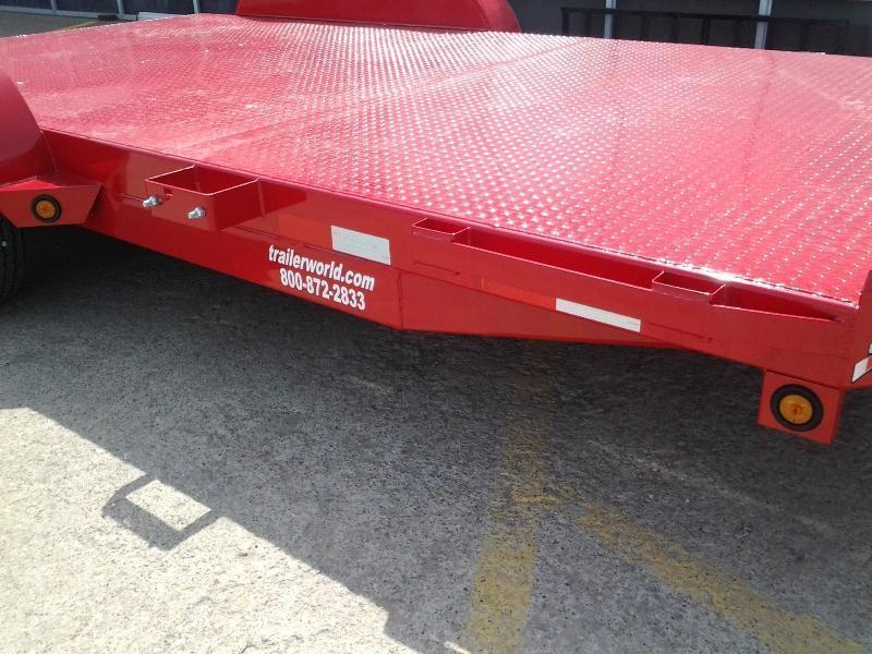 2018 Sure Trac 18 Steel Deck Open Car Hauler Trailer Trailer