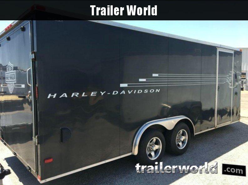 2011 Lark 20' Vnose Enclosed Car Trailer 10k GVWR
