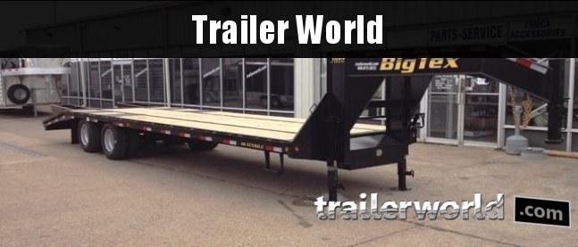 2017 Big Tex Trailers 22GN-30' + 5' Flatbed w/ MEGA Ramps Gooseneck Equipment Trailer