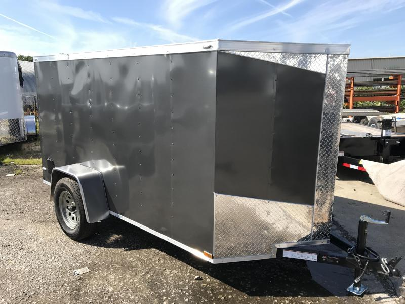 2018 Lark 5' x 10' x 5' Vnose Enclosed Cargo Trailer w/ Ramp