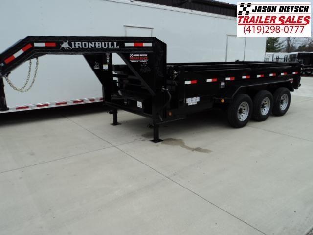 2018 Iron Bull 83X16 Triple Axle Gooseneck Dump Trailer....Stock#IB-15747