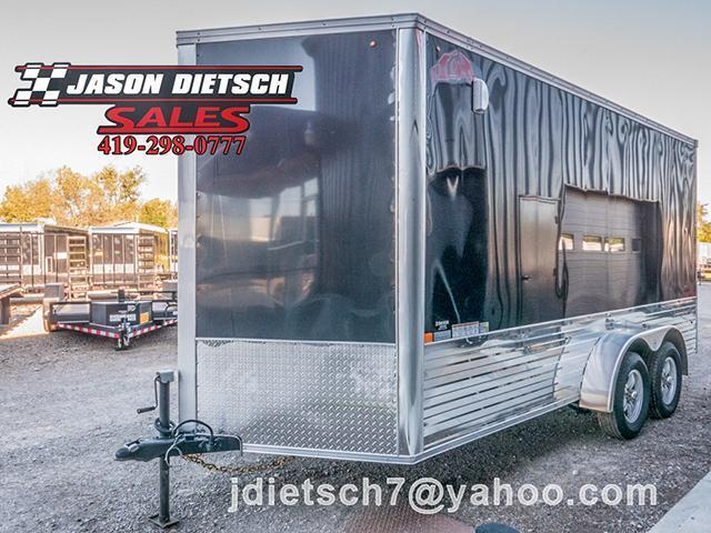 2016 United Trailers XLMTV 7X16 V-Nose Extra Height Motorcycle Trailer