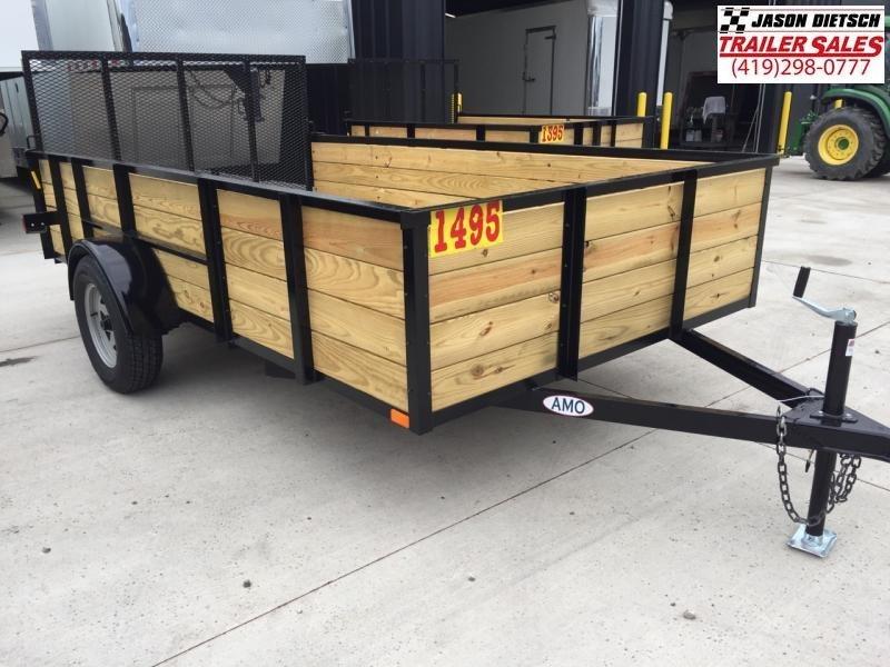 2018 American Mfg 76x12 High Side Utility Trailer W/Gate....Stock# AM-6238