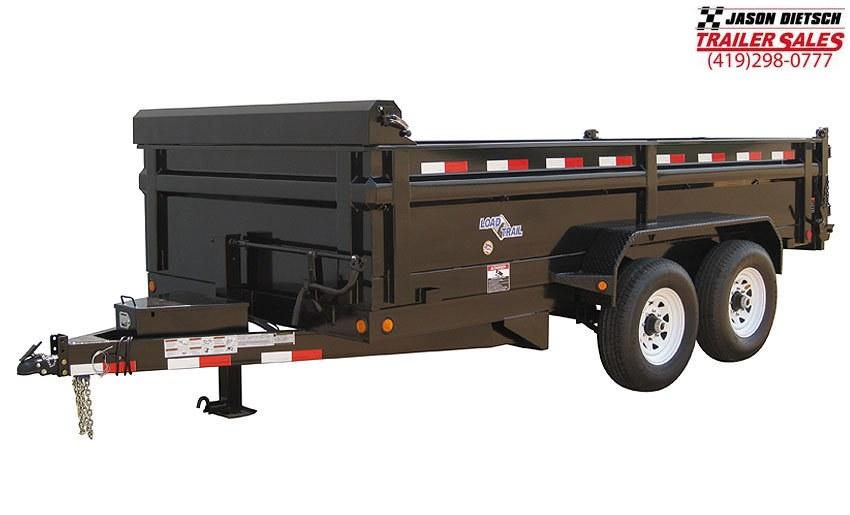 "2019 Load Trail 96"" X 14' Tandem Axle 2 5/16 ball Deck Over Dump Dump Trailer"