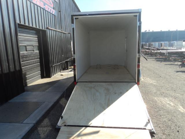 2016 United Trailers XLMTV 7X14 V-Nose Extra Height Motorcycle Trailer