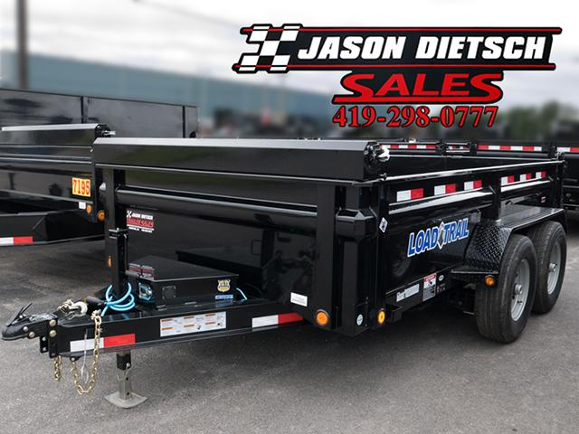 2017 Load Trail DV 83x14 Low Pro Tandem Axle Dump trailer....Stock# LT-28335