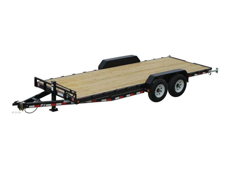 2017 PJ Trailers CC 20' Equipment Trailer with Monster Ramps