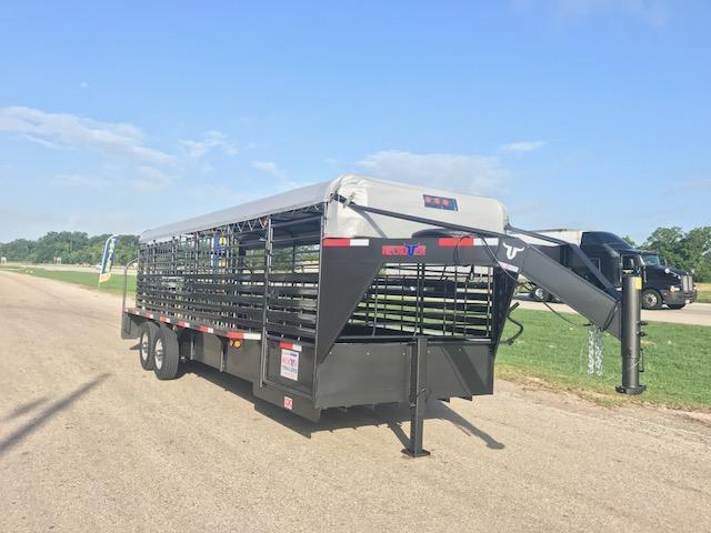 "2018 24 x 6' 8"" Neckover Cattle Trailer"