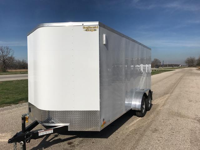 2018 Continental Cargo 7 x 16 Enclosed Cargo Trailer