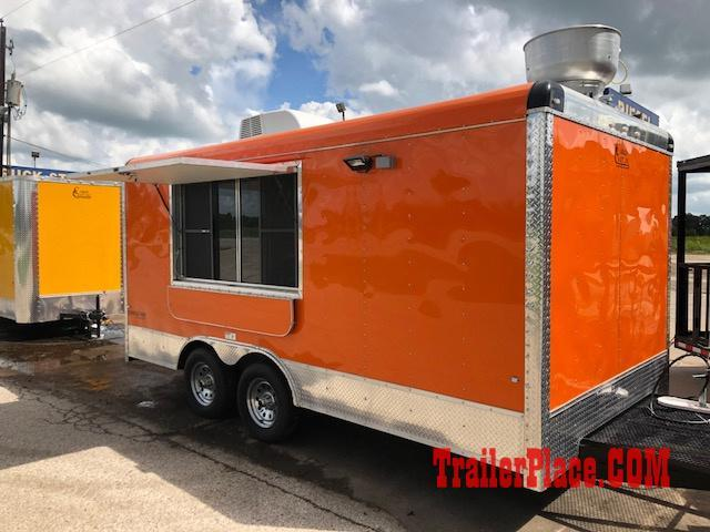 ND NEW 8.5 x 16 CONCESSION / FOOD TRAILER | Trailer Place ... Concenssions Food Golf Cart on