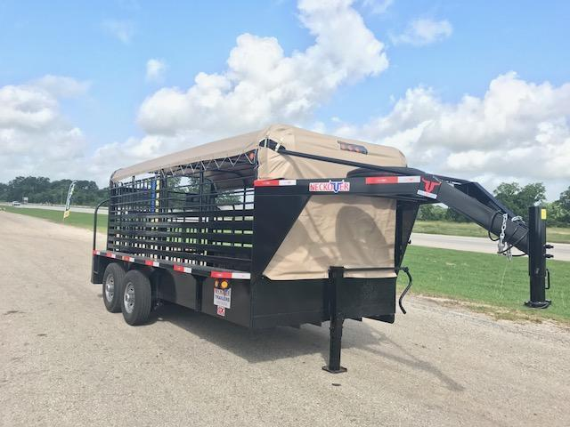 "2017 16 x 6' 8"" Neckover Cattle Trailer"
