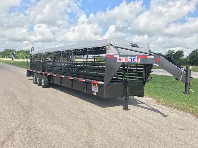 "2018 32' x 6' 8"" Neckover Cattle Trailer"