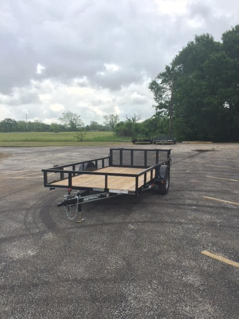 2018 77 X 12 Single Axle Utility Trailer w/Bi Folding Gate