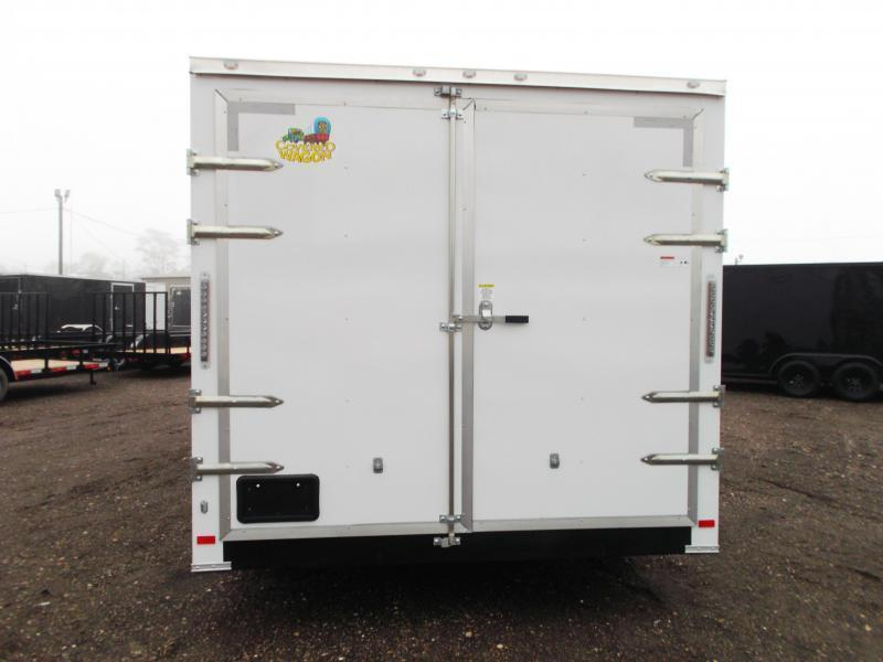 2019 Covered Wagon Trailers 8.5x20 Tandem Axle Cargo / Enclosed Trailer / Barn Doors / 7ft Interior Height / 5200# Axles