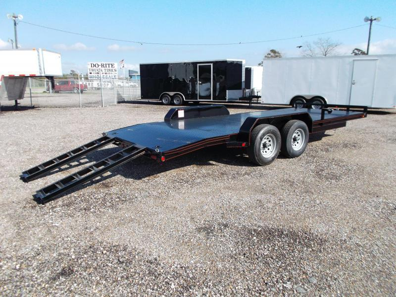 2019 Maxxd 83X20 10K Steel Deck Car Hauler / Racing Trailer / Powder Coated / Steel Deck / 5200# Axles / Dovetail