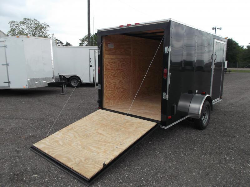 2019 Covered Wagon Cargo 6x12 Single Axle Cargo Trailer / Enclosed Trailer / Ramp / RV Side Door