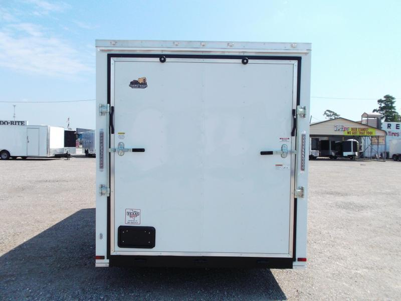 2019 Covered Wagon Trailers 7x14 Tandem Axle Cargo / Enclosed Trailer / 7ft Interior / Ramp / LEDs
