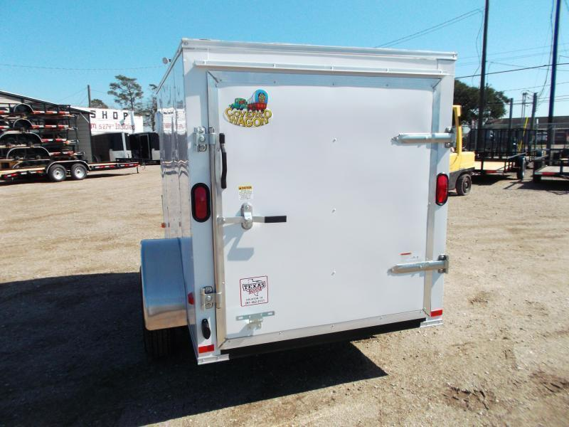2018 Covered Wagon Trailers 5x8 Single Axle Cargo / Enclosed Trailer w/ Swing Door