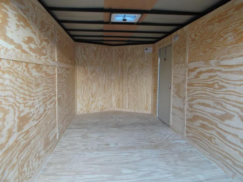 2019 Covered Wagon Trailers 7x14 Tandem Axle Cargo Trailer / Enclosed Trailer / Barn Doors / LEDs