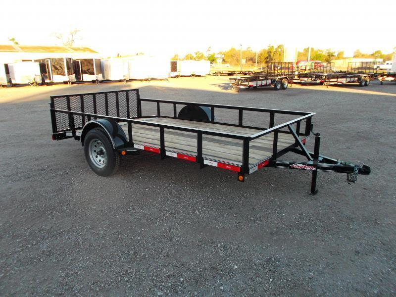 2019 Longhorn Trailers 77x12 Single Axle Utility Trailer / 2ft Dovetail / 2ft Ramp Gate