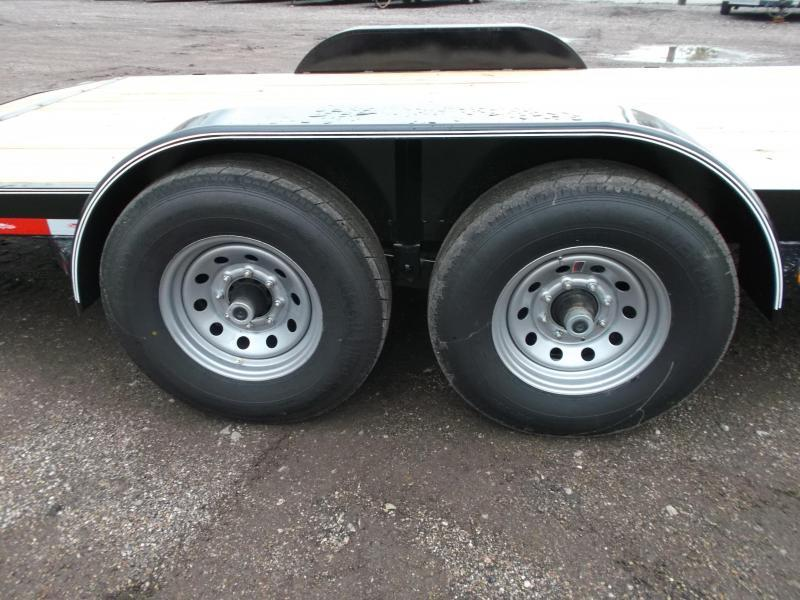 2018 Longhorn Trailers 20ft Tandem Axle 14K Car Hauler / Racing Trailer / Flat Deck / 7000# Axles / 2ft Dovetail / 5ft Ramps