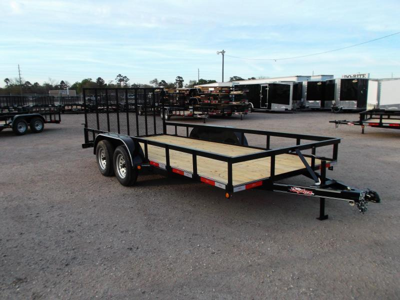2018 Longhorn Trailers 83x16 Utility Trailer / 4ft Heavy Duty Ramp / Brakes