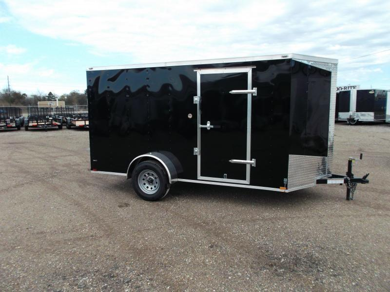 "2019 Lark 6x12 Single Axle Cargo Trailer / Enclosed Trailer / Barn Doors / 6'6"" Interior Height / LEDs"