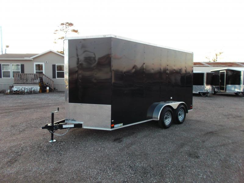 2018 Covered Wagon Trailers 7x14 Tandem Axle Cargo Trailer / Enclosed Trailer / 7ft Interior / Ramp / LEDs