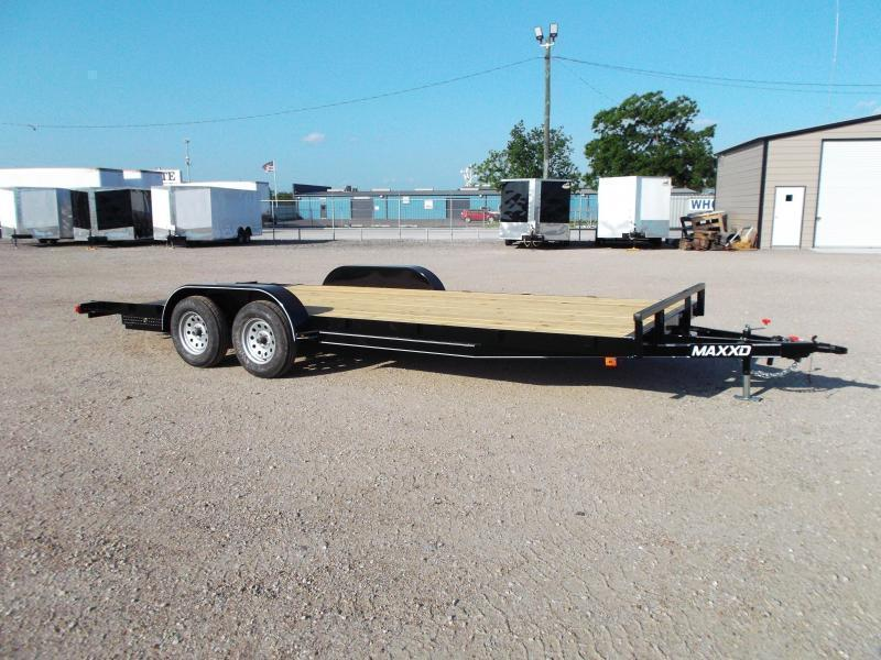 2019 Maxxd 83x18 Car Hauler / Racing Trailer / 2ft Dovetail / Treated Wood / Powder Coated