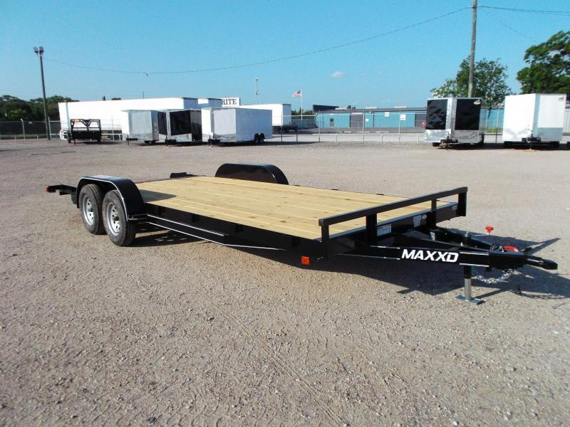 2019 Maxxd 83x18 Car Hauler / Racing Trailer / 2ft Dovetail / Treated Wood / Powder Coated
