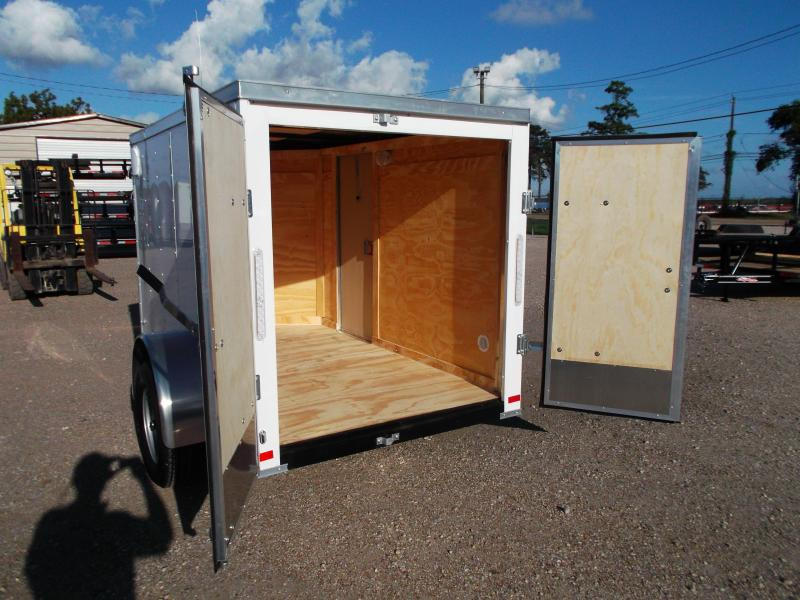 2019 Covered Wagon Trailers 5x8 Single Axle Cargo Trailer / Enclosed Trailer / Barn Doors / RV Side Door / LEDs