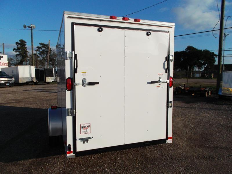 2019 Covered Wagon Trailers 6x12 Single Axle Cargo Trailer / Enclosed Trailer / Ramp / 6ft Interior Height / RV Side Door