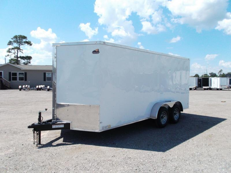 2018 Covered Wagon Trailers 7x16 Tandem Axle Cargo Trailer / Enclosed Trailer / Barn Doors / RV Side Door / LEDs