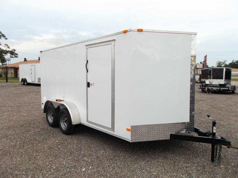 2018 Covered Wagon Trailers 7x14 Tandem Axle Cargo Trailer / Enclosed Trailer / Ramp / RV Side Door