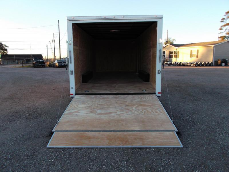 2019 Covered Wagon Trailers 8.5x20 Tandem Axle Cargo / Enclosed Trailer / 5200# Axles / Ramp / RV Side Door / LEDs
