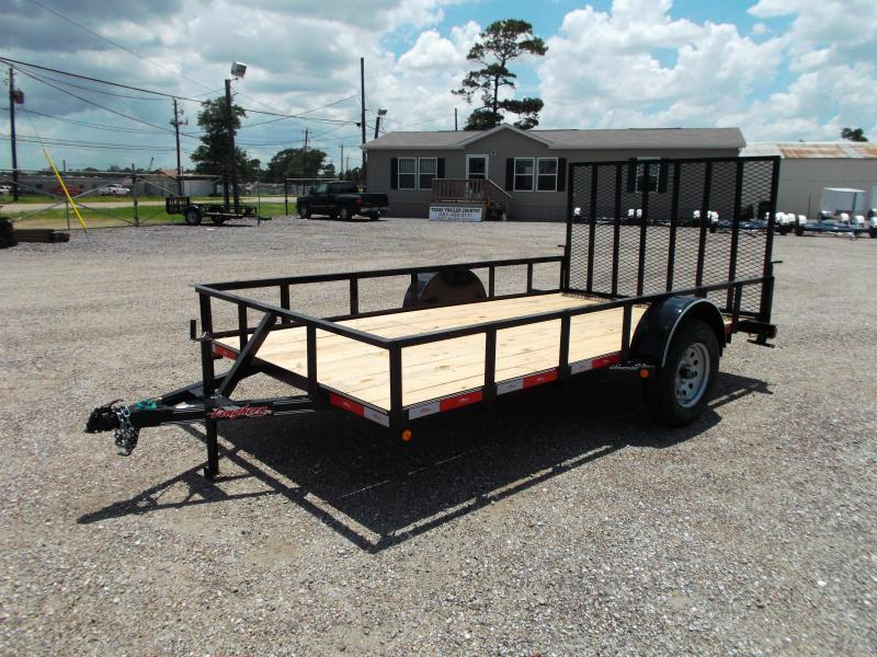 2017 longhorn trailers 83x12 single axle utility trailer w heavy duty 4ft ramp