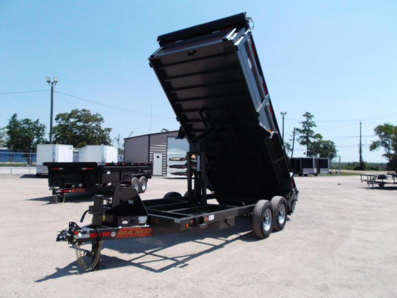 2018 Maxxd 83x16 heavy duty 14k dump trailer