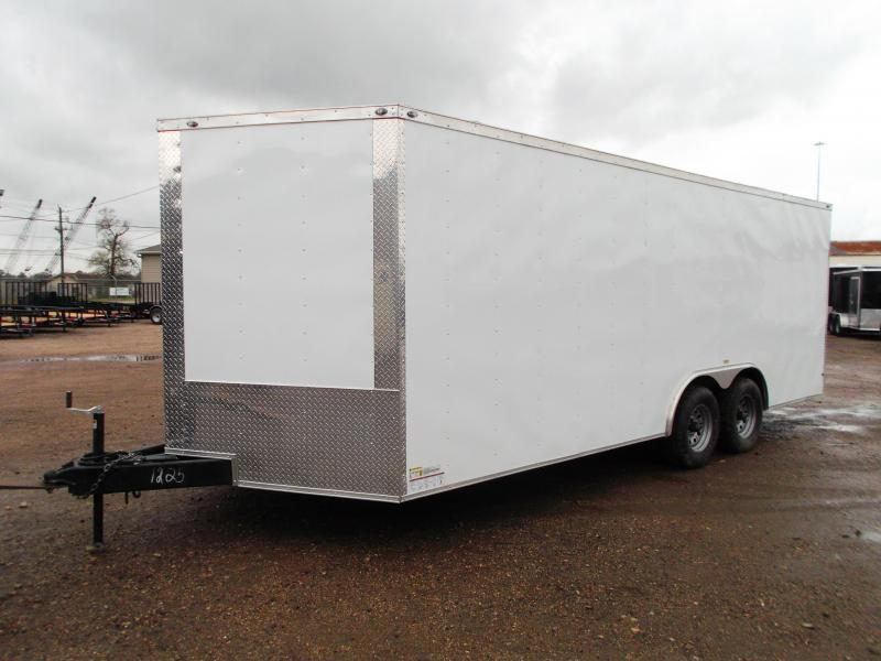 2019 Texas Select 8.5x20 Tandem Axle Cargo Trailer / Car Hauler / 3500# Axles / Heavy Duty Ramp / LEDs